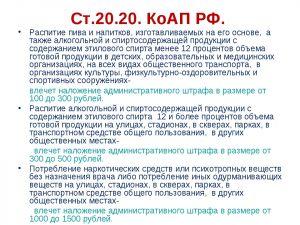 Ст. 20.21 КоАП
