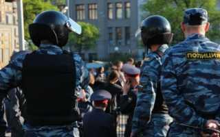 Какое наказание назначено за избиение полицейского?
