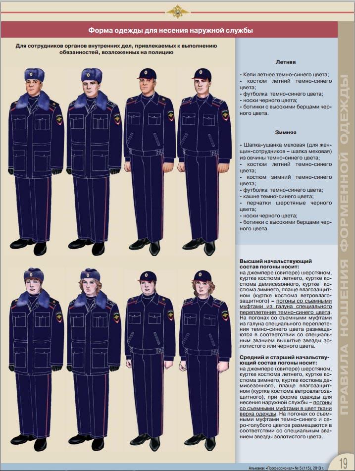 Одежда сотрудников полиции