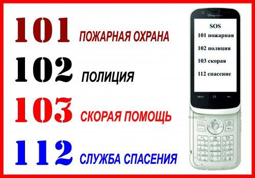 телефоны экстренной связи